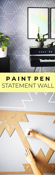 11 Creative Ideas to Fill a Blank Wall on a Tiny Budget | Paint pens ...