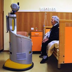 A care home in Florence is pioneering the use of a #robot as a carer for its 20 elderly residents. #RobotEra is coordinated by the Robotics Institute of the Scuola Superiore Sant'Anna di Pisa as part of the world's largest experiment ever carried out using service robots, which involves 160 people in real-world environments over four years. This Robot-Era is preparing to help a resident from her bedroom to the dining room. Photo: Laura Lezza/Getty Images