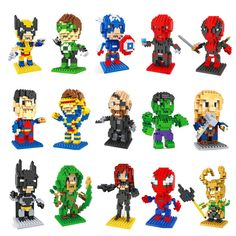 20 Styles Marvel Super Heroes Deadpool Thor Diamond Batman v Superman Building…