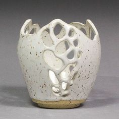 Couldn't be more happy with how the final form of this hand carved orchid pot turned out with the Speckled Eggshell glaze!