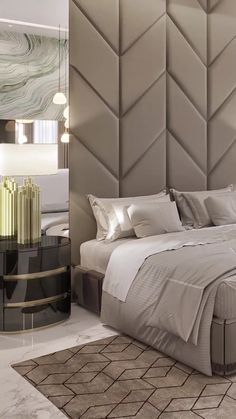 Luxury modern home bedroom interiors with modern style bed and decoratons Find more unique interior design ideas get inspiration luxuryhome luxurybedroomideas arabicstyle luxurybedroomideas spaziointeriordecorationllc Modern Luxury Bedroom, Luxury Modern Homes, Luxury Bedroom Design, Master Bedroom Interior, Modern Master Bedroom, Master Bedroom Design, Minimalist Bedroom, Luxurious Bedrooms, Home Bedroom