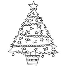 top 25 free printable christmas coloring pages online - Christmas Tree Coloring Pages Online