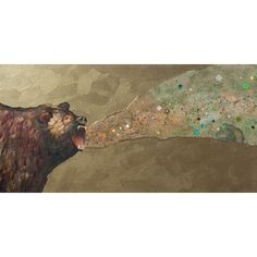 Found it at Wayfair - 'Grizzly Growl' by Eli Halpin Painting Print on Wrapped Canvas