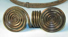 Bronze Age European Spiral Torque and Ornaments
