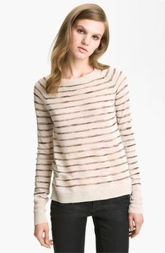 Perfect for work and casual! A.L.C. Stripe Crewneck Sweater available at #Nordstrom