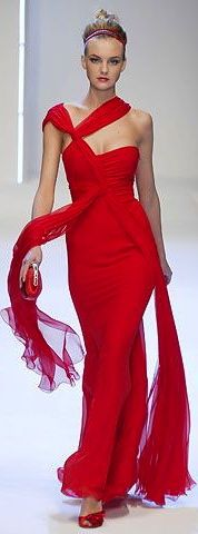 Valentino - Only a few can wear red. This woman cannot. But, the dress is fabulous. ;)
