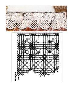 filet crochet rose chart for border