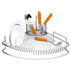 Aramados e Organizadores! Deixe a sua cozinha com mais estilo, bonita e organizada. ESCORREDOR DE LOUÇAS NOBILITÀ - CAPRICCIO Este escorredor possui estrutura em aço piatina em formato de leque que proporciona design diferenciado e traz beleza para cozinha. Robusto, proporciona grande armazenamento de louças. A sua capacidade é para 12 pratos e conta com um porta talher aramado removível que pode ser usado como porta talher no momento de servir. Cozinha / Nobilità | Capriccio Capacidade:...