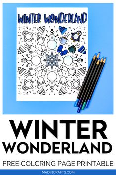 Free Printable Coloring Pages, Free Coloring Pages, Free Printables, Happy Birthday Christian Quotes, Craft Tutorials, Diy Projects, Months In A Year, Winter Wonderland, Mad