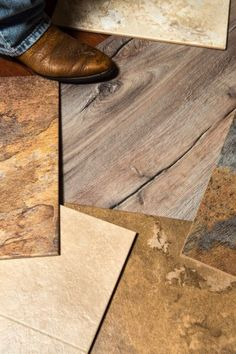 The latest vinyl floor coverings come in a variety of offerings that have the look and feel of stone, marble and wood. (Dennis Tennant | For...