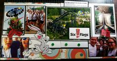 Six Flags scrapbook layout, Bugs Bunny,  www.justkitting.citymax.com