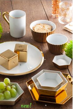 Gorgeous Dinnerware!   We are located at 125 E. Township St., Ste. 9, Fayetteville, AR and we have Bridal Registry too!
