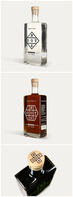 Roots premium spirits packaging