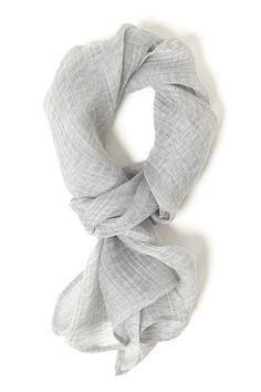 hope | light grey woven scarf (via butter-brass.blog...)