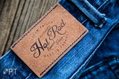 Hot printed jacron label made in Italy by Panama Trimmings #denim #details…
