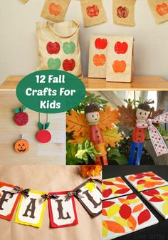 12 Fun Fall Crafts For Kids - diycandy.com  Excited to see my apple projects included!