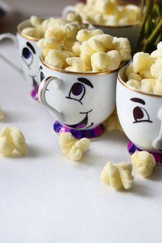 Beauty & the Beast Birthday Party Idea // Draw Chip's face on Teacups