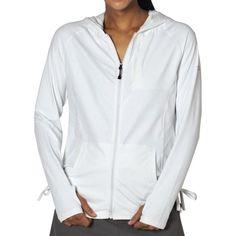 Own it: ExOfficio Sol Cool Zippy Hooded Jacket in White, sz M. Sierra Trading Post, 1/9/14, $36.