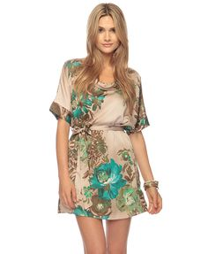 Satin Floral Dress  $30 \\ INSANE!