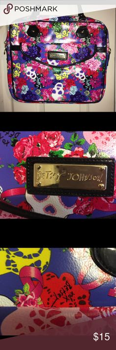Betsey Johnson Laptop Bag Never used. Comes with Crossbody extension. Betsey Johnson Bags Laptop Bags