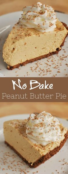 No Bake Peanut Butter Pie - the creamiest peanut butter pie with a graham cracker crust. Only 6 ingredients, so easy, and everyone always begs for the recipe! desserts peanut butter No Bake Peanut Butter Pie Easy Pie Recipes, Tart Recipes, Best Dessert Recipes, Sweet Recipes, Baking Recipes, Graham Cracker Dessert, Graham Cracker Recipes, Gram Cracker Crust Recipe, Recipes With Graham Crackers