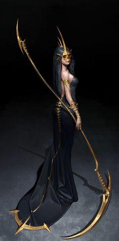 fantasy art Abyss keeper, Hwan (煥) Foto Fantasy, Chica Fantasy, Fantasy Girl, Fantasy Queen, Cat Character, Female Character Design, Character Design Inspiration, Artwork Fantasy, Dark Fantasy Art