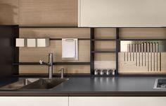 "Built in knife storage on Varenna ""My Planet"" kitchen by Poliform"