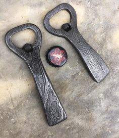 "jessesavageblacksmith: ""Couple Damascus bottle openers . The one on the right is…"