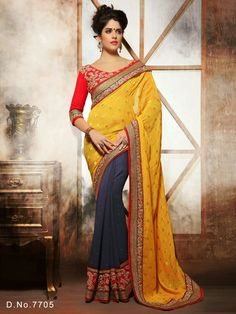 Our reputed firm is vastly affianced in offering a premium quality range of Designer Sarees to our highly valued customers. These products are provided by us as per the customers' specifications within the specified time period. These are provided by us at extremely budget friendly prices. For their effective performance and high quality, these products are admired by our reputed clients.