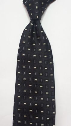 #ebay Faconnable men's silk dress tie black with pattern made in France withing our EBAY store at  http://stores.ebay.com/esquirestore