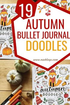 Here comes my favorite season – Fall/Autumn (whatever you call it) and with it starts another spread for my bullet journal. These adorable autumn doodles will add a special touch of the season and make your bullet journaling journey fun!