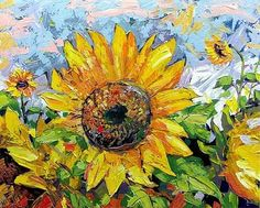 i love sunflowers :) need to paint this