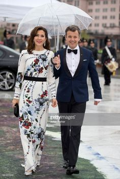 Crown Prince Frederik and Crown Princess Mary of Denmark, attend a Gala Banquet hosted by The Government at The Opera House as part of the Celebrations of the 80th Birthdays of  King Harald and Queen Sonja of Norway. on May 10, 2017 in Oslo, Norway.  (Photo by Julian Parker/UK Press via Getty Images)