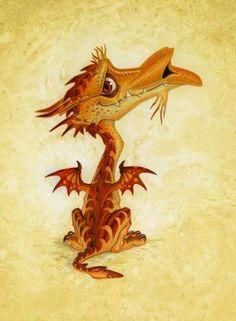 Errol the swamp deagon by Paul Kidby