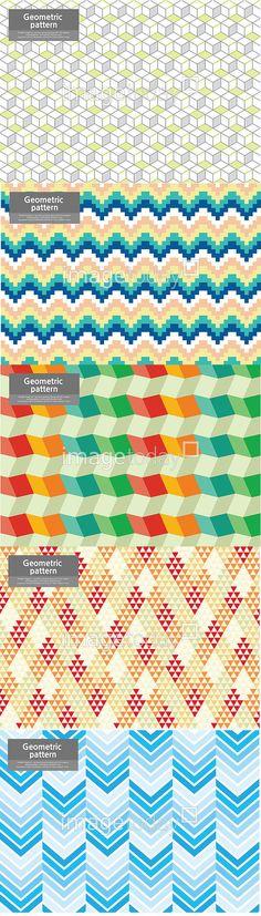 이미지투데이 패턴 기하학 도형 무늬 일러스트 육면체 물결 추상 통로이미지 tongroimages imagetoday pattern illust illustration geometric