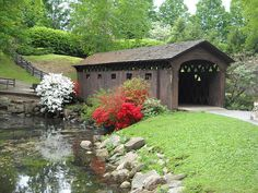 covered bridge in spring   by Lizzie~Belle