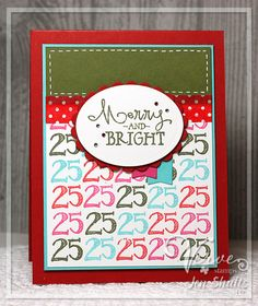 Merry and Bright by Jen Shults using Merry and Bright and Calendar Countdown from Verve Stamps.