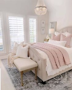 Most Popular and Amazing Bedroom Design Ideas for This Year Part 24 - Home decor - Bedroom Decor Master Bedroom Design, Bedroom Inspo, Home Decor Bedroom, Modern Bedroom, Contemporary Bedroom, Blush Bedroom Decor, French Bedroom Decor, Silver Bedroom, Feminine Bedroom