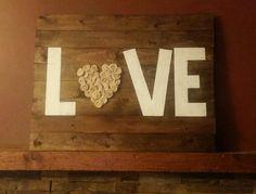 """Wood sing """"love"""""""