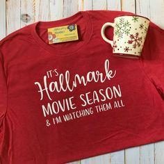 Hallmark Christmas Movie Watching Shirt Its Holly Jolly Hallmark Christmas Movie Kinda Morning Shirt