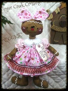 Primitive Christmas Gingerbread Dolls SUGAR by GingerCreekCrossing