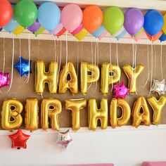 best birthday party balloons decoration ideas colorful design