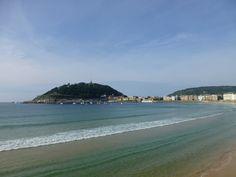 Playa de la Concha desde el Palacio de Miramar.