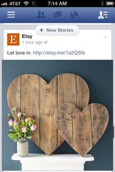 Recycled wood hearts :)