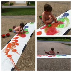 Large Scale Fingerpainting    -  Pinned by @PediaStaff – Please Visit http://ht.ly/63sNt for all our pediatric therapy pins