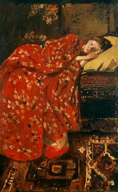 The art work The Red Kimono - Georg Hendrik Breitner we deliver as art print on canvas, poster, plate or finest hand made paper. You define the size yourself.
