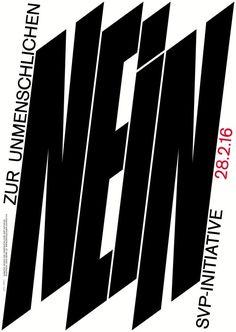 """searchsystem:  """"Hubertus Design / Kampagne gegen die Durchsetzungsinitiative / Poster / 2016  """""""