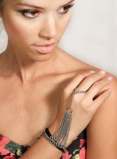 Matte Hand Chain Finger Bracelet,  Jewelry, finger  chain  bracelet  hand, Chic