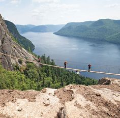 Outdoor adventure is the thing at Quebec's Saguenay Fjord, an undiscovered area of dramatic natural beauty. Camping Quebec, Camping Lac, Parc National, National Parks, Camping Rustique, Camping Sauvage, Lac Saint Jean, Les Fjords, Canadian Travel