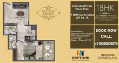 Check out the even floor plan for 1 BHK flat at Neptune Triveni Sangam. 1 BHK at Rs 18.86 Lacs only.... http://neptunedevelopersreviews.tumblr.com/
